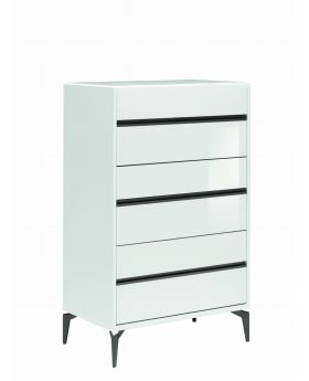 COSTA BLANCA 6/D CHEST DRAWERS HIGHGLOSS