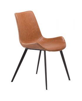 Hype Dining Chair Lt.Brown /Black Leg
