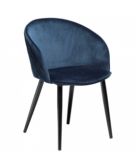 Dual Dining Chair Blue Velvet, Blklegs