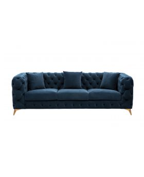 ROMANTIC 4 SEATER SOFA BLUE,FAB