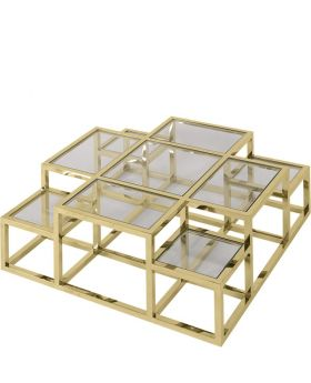 GOLDEN ALVAR COFFEE TABLE,GOLD