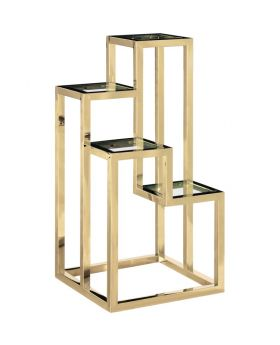 ALVAR GOLDEN RIGHT PEDESTAL,GOLD