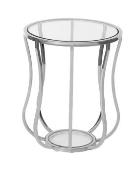 IRIS SIDE TABLE ,SILVER