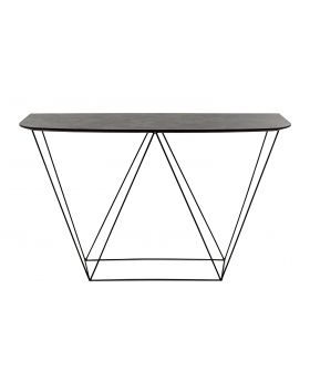 TRAPEZE CONSOLE TABLE BLACK