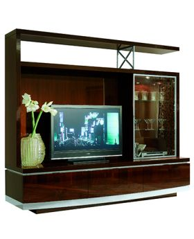 GARDA TV UNIT SET , WALNUT- CANALETTO