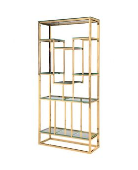 ERNEST GOLDEN SHELVING ,GOLD