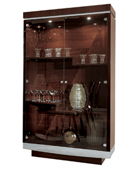 GARDA GLASS DOOR CABINET,WALNUT
