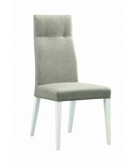 CANOVA DINING CHAIRS, SILVER W/HG WHITE