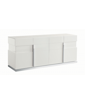 CANOVA 4DOOR BUFFET, HG WHITE