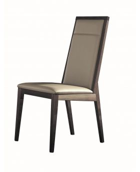 MATERA DINING CHAIR ECOLEATHER OAK/GRAIN