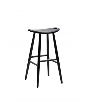 MUSTANG BAR STOOL,MATT BLACK