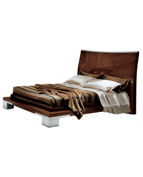 GARDA KS BED,WALNUT   (EXCLUDING MATTRESS)