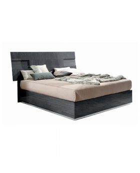 MONTECARLO KS BED W/LIGHT,GREY HIGH GLOS   (EXCLUDING MATTRESS)