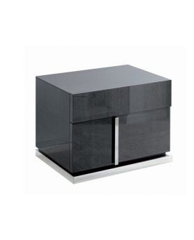 MONTECARLO LEFT BEDSIDETABLE,GREY HG GLO