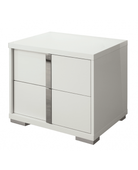 IMPERIA LFT BEDSIDE TABLE , HG.WHITE