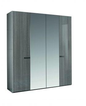 IRIS WARDROBE 4/D EUKALIPTO DOORS+MIRROR