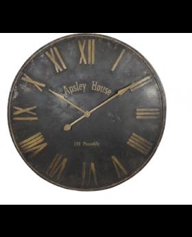 WALL CLOCK  BLACK 'ASPLEY HOUSE' D92cm