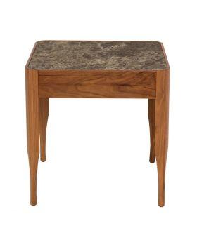 Chiara Lamp Table W/Walnut/Ceramic Top (Excluding Bulb)