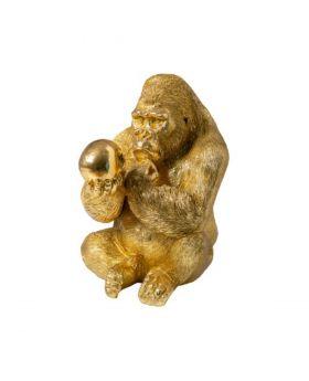 Gorilla Holding A Skull In Ant.Goldresin