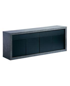 Karl Sideboard 4D+2Drw 245Concrete/Black
