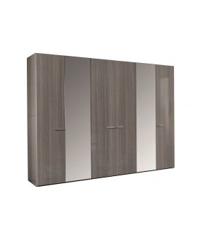 Iris Wardrobe 6/D Eukalipto Doors+Mirror