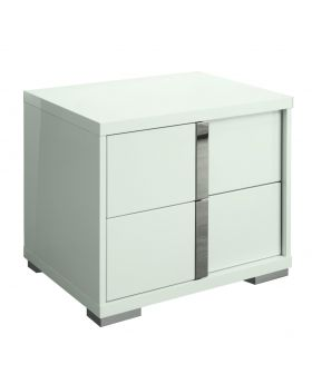 Imperia Rgt Bedside Table , Hg.White