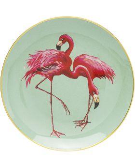 Deco Plate Flamingo Group Dia27Cm
