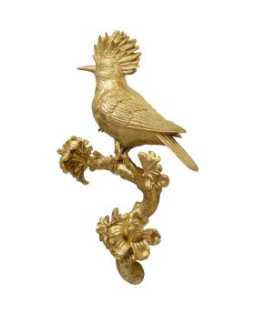 Wall Decoration Parrot Gold 40Cm