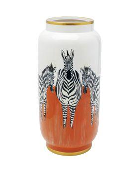 Vase Zebras Orange 39Cm