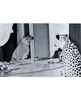 Picture Glass Metallic Gepard ,Black