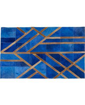 Carpet Lines Blue 170X240Cm