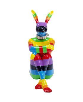 Deco Object Sitting Rabbit Rainbow