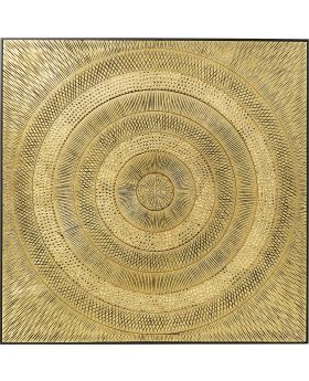 Object Picture Art Circle Gold 120X120Cm