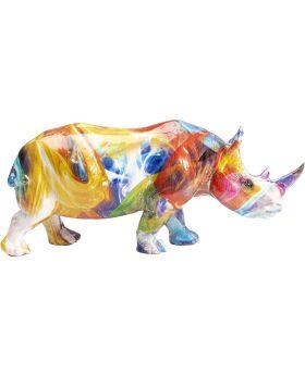 Deco Figurine Colored Rhino