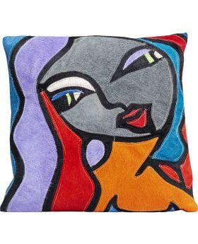 Cushion Monique Purple Hair 40X40