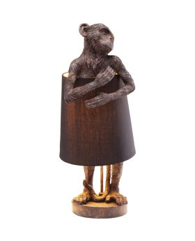 Table Lamp Animal Monkey Brown (Excluding Bulb)