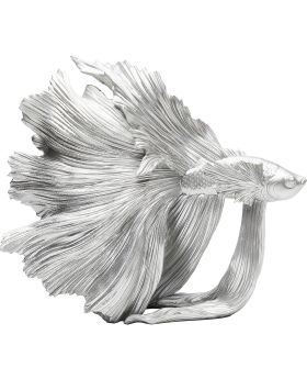 Deco Object Betta Fish Silver Small