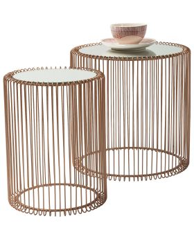 Side Table Wire Copper (2/Set)