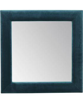 Mirror Velvet Bluegreen Square 100X100Cm
