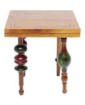 Side Table Slide Rule 45X45Cm,Wood/Metal