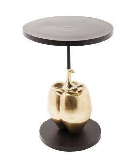 Cafe Table Pumpkin O-76Cm,Black/Gold
