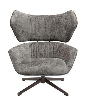 Swivel Chair Oval Office , Grey,Fab