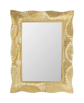 Wall Mirror Wavy Bronze 94X124Cm