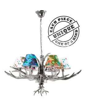 Pendant Lamp Antler Flowers 6-Branched (Excluding Bulb And Socket)