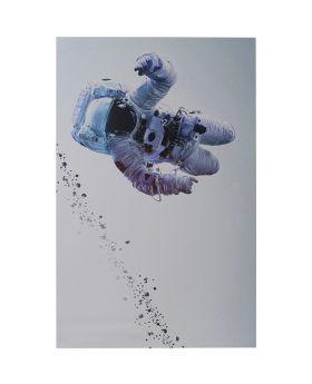 Picture Alu Man In The Sky 80X120Cm,Blue