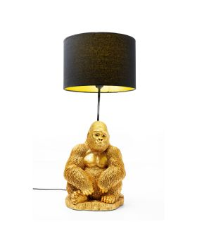 Table Lamp Monkey Gorilla Gold (Excluding Bulb)