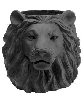Deco Planter Lion Black