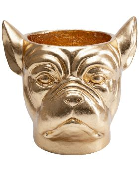 Deco Planter Bulldog Gold