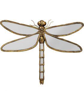Wall Deco Dragonfly Mirror 71Cm Golden