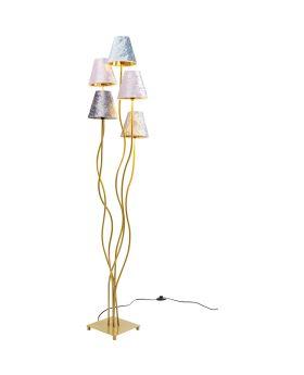 Floor Lamp Flexible Velvet Brass Cinque (Excluding Bulb)